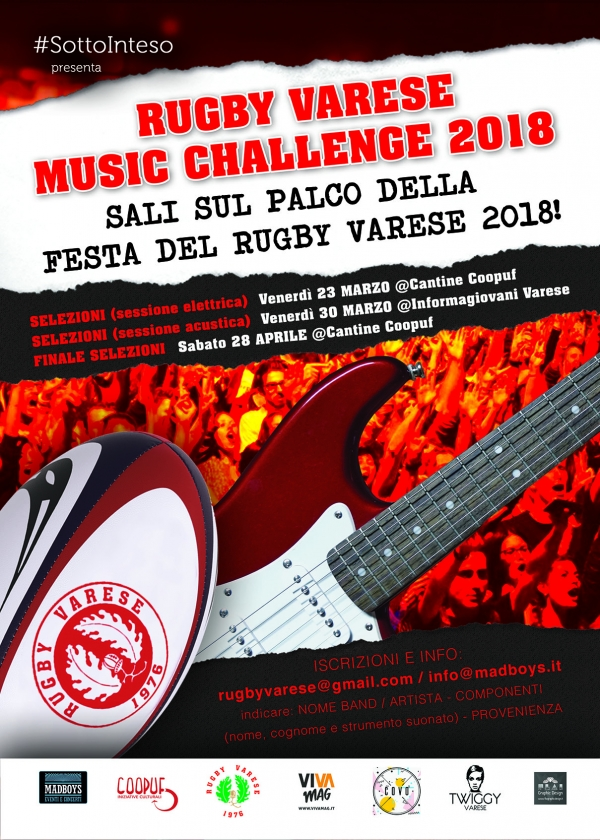 Modifica Rugby Varese Music Challenge 2018